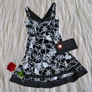 Nine West Floral Fit & Flare Dress Size 8